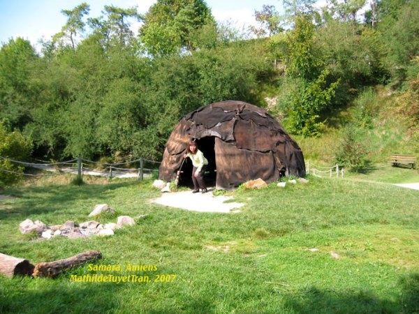 Lều ở bằng da thú của người Gaulois - Samara, Amiens
