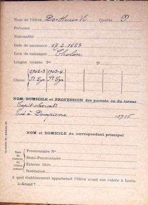 Phiếu ghi ngày và nơi tử trận của Đỗ Hữu Vị. Nguồn: Internet
