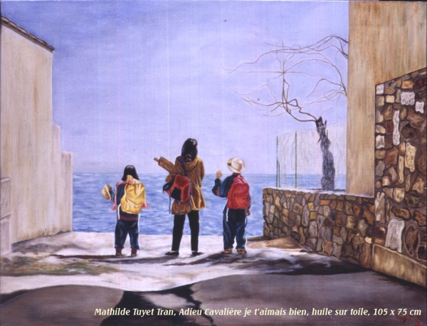 Tranh sơn dầu trên vải Mathilde Tuyet Tran, Vĩnh biệt Cavalière, khổ 105 x 75 cm