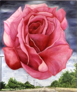 """Tranh sơn dầu Mathilde Tuyet Tran """"Con đường của kẻ phản bội"""",  khổ 120 x 140 cm"""