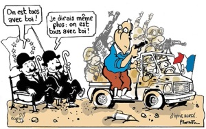 Source: Plantu, Tintin au Mali, Le Monde du 15.01.2013