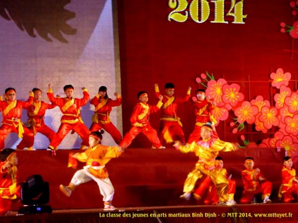 Võ thuật Bình Định biểu diễn bởi lớp thiếu niên - L'art du combat s'apprend très tôt !  Photo: MTT 2014